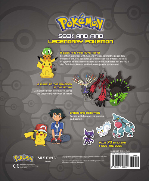 Pokemon Seek and Find Legendary Pokemon Activity Book