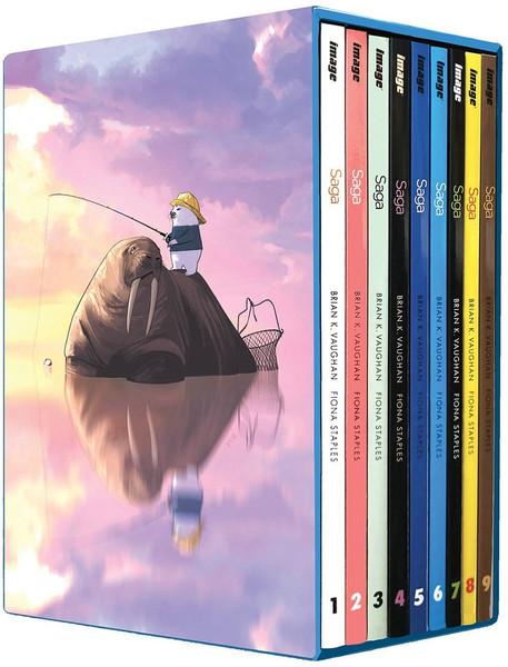 Saga Graphic Novel Volumes 1-9 Box Set