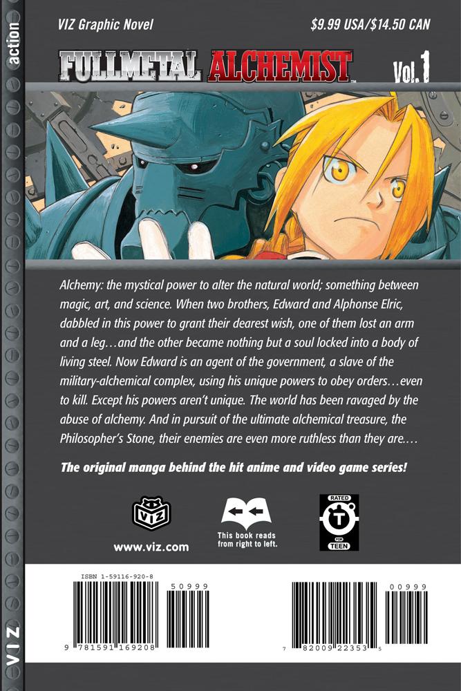 Fullmetal Alchemist Manga Volume 1