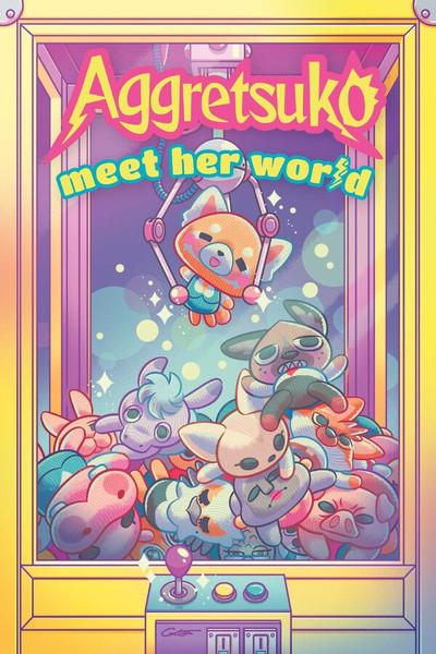Aggretsuko Meet Her World Graphic Novel (Hardcover)