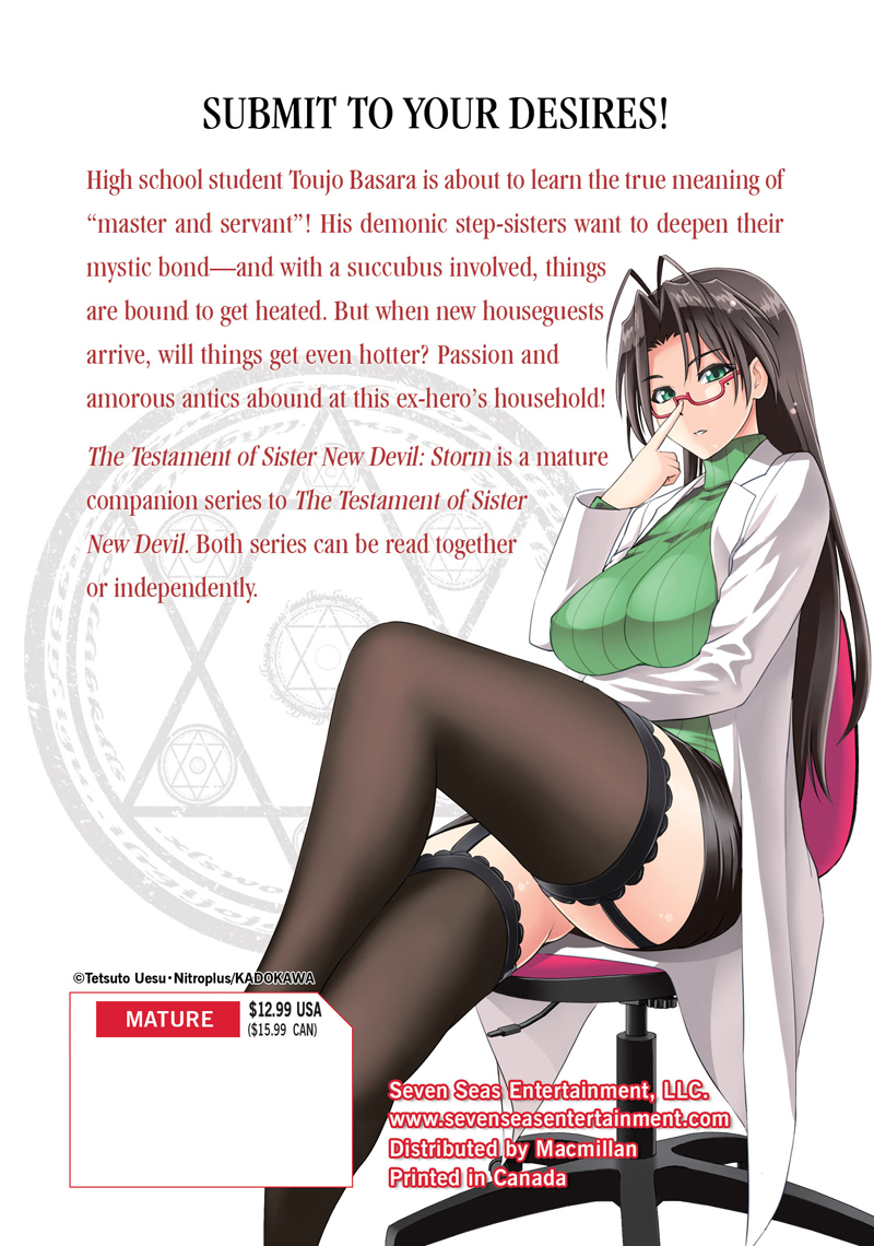 The Testament of Sister New Devil Storm! Manga Volume 2
