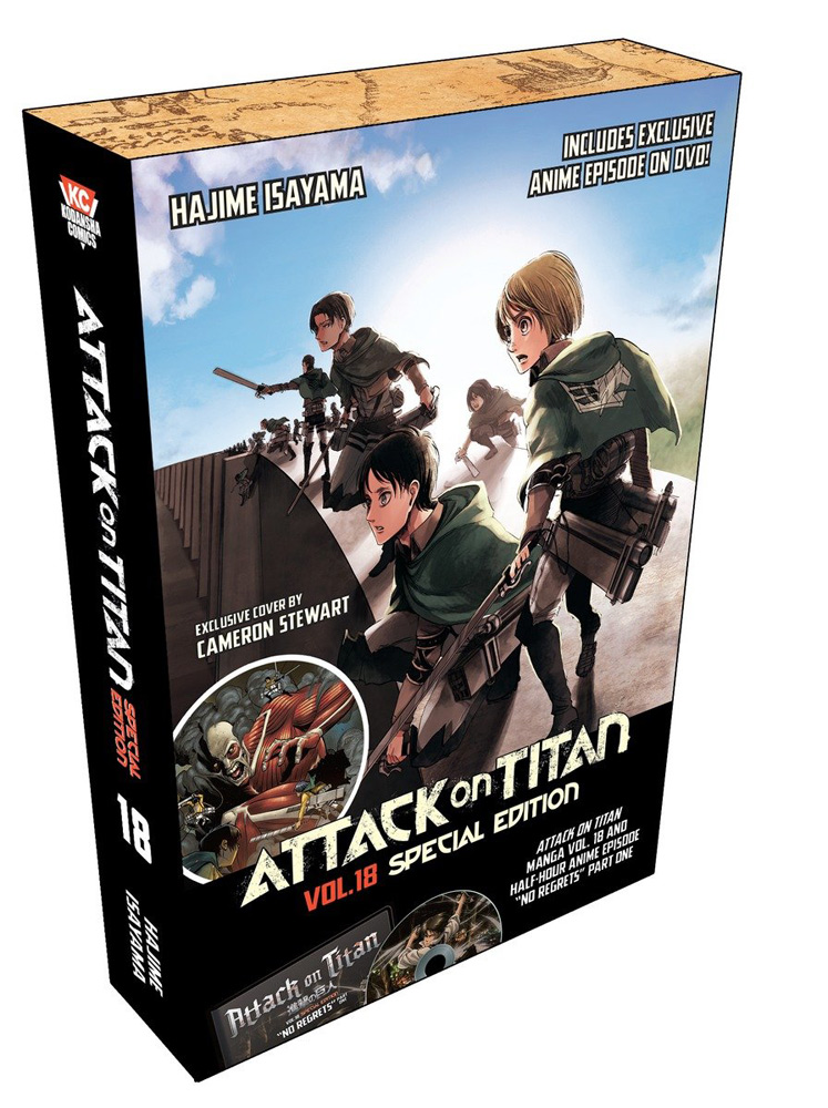 Attack on Titan Special Edition Manga Volume 18 + DVD 9781632363220