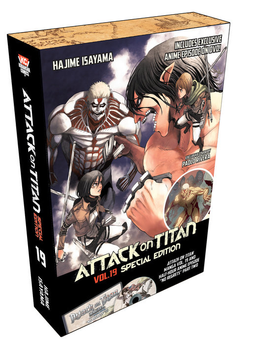 attack on titan special edition manga volume 19   dvd