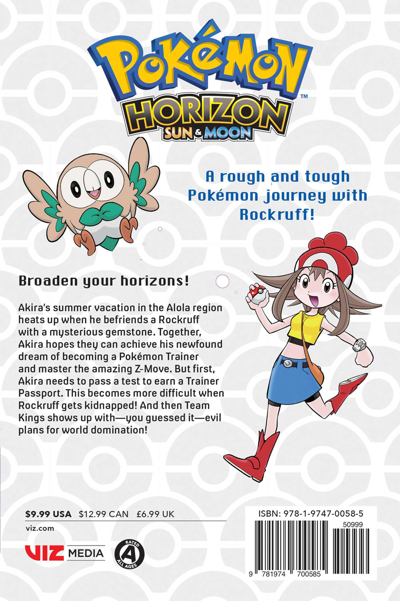 Pokemon Horizon Sun and Moon Manga Volume 1
