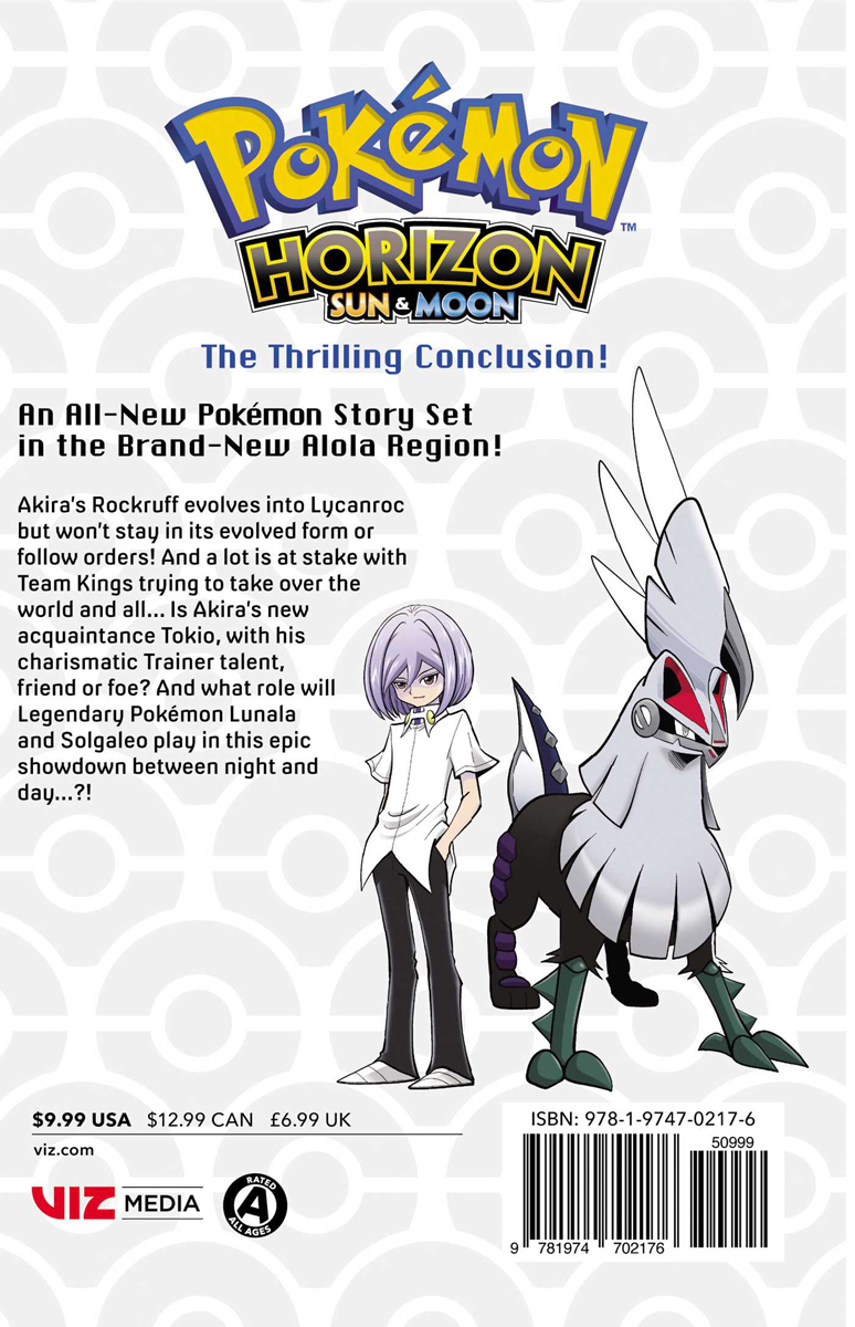 Pokemon Horizon Sun and Moon Manga Volume 2