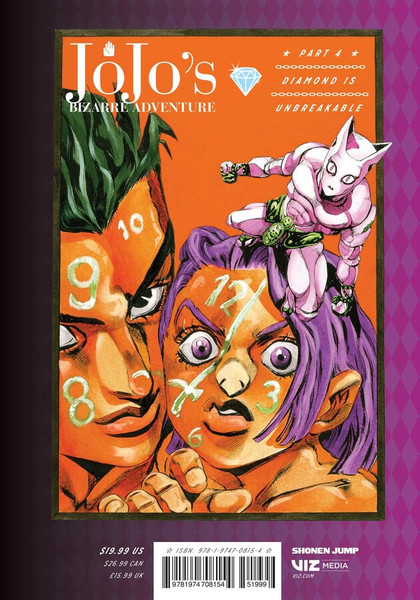 JoJo's Bizarre Adventure Part 4 Diamond is Unbreakable Manga Volume 9 (Hardcover)