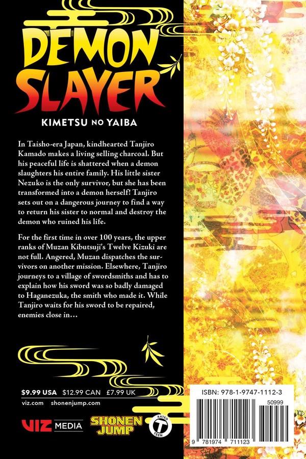 Demon Slayer Kimetsu No Yaiba Manga Volume 12