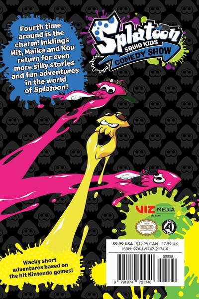 Splatoon Squid Kids Comedy Show Manga Volume 4