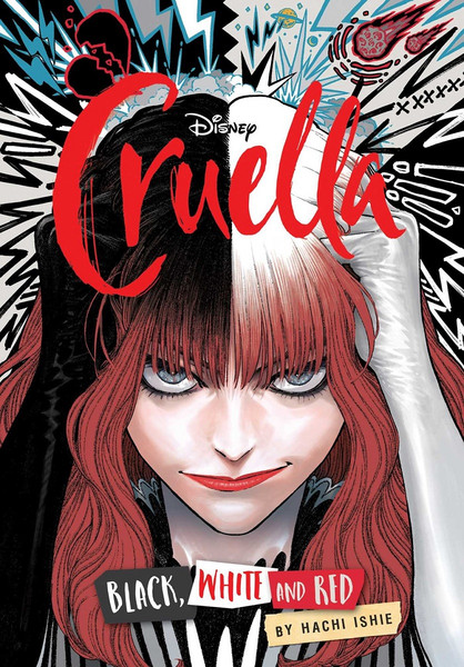 Cruella Black White and Red Manga