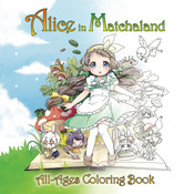 Alice in Matchaland Coloring Book