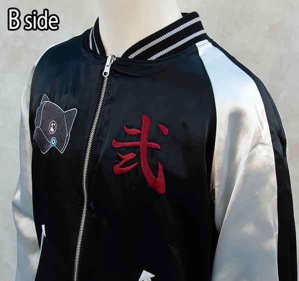 Asuka Langley Shikinami Cherry Blossoms and EVA-02'y Rebuild of Evangelion Original Reversible Embroidered Satin Jacket (Import)