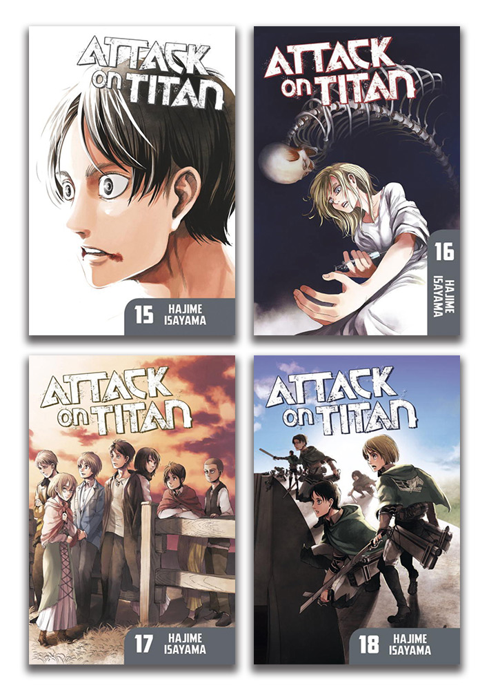 Attack on Titan Manga (15-18) Bundle BUNDLEA1758