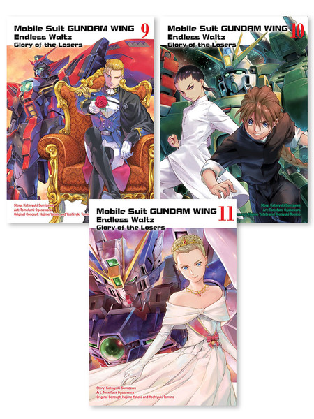 Mobile Suit Gundam Wing Glory of Losers Manga (9-11) Bundle