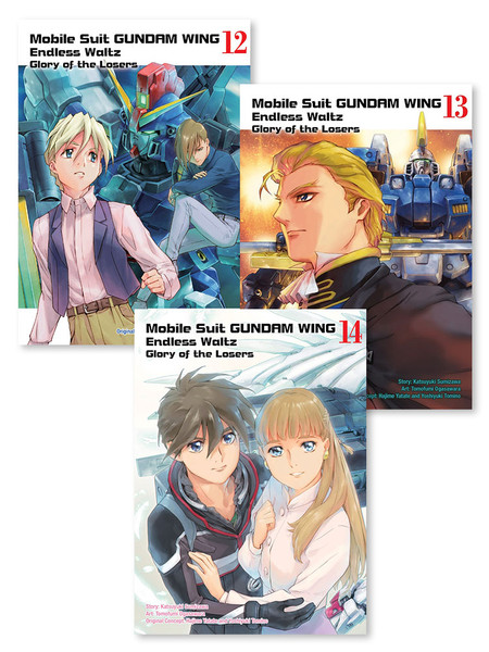 Mobile Suit Gundam Wing Glory of Losers Manga (12-14) Bundle
