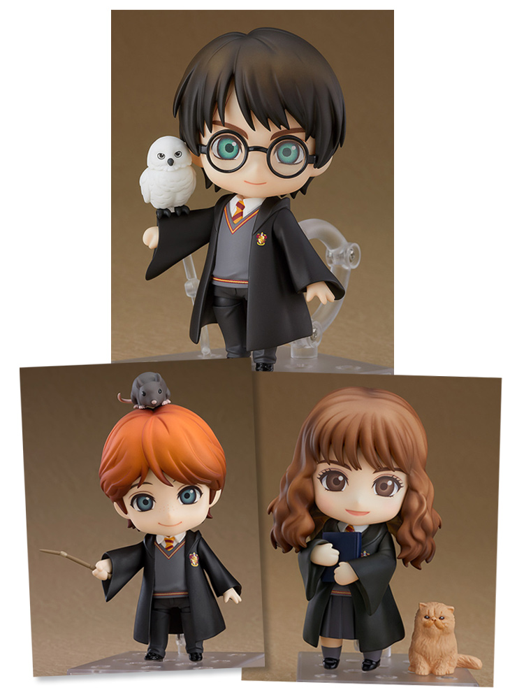 Harry Potter (Harry, Ron, & Hermione) Nendoroid Figure Bundle