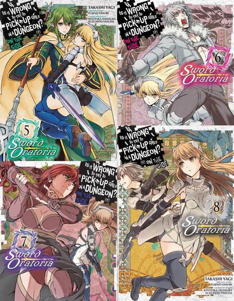 Is It Wrong to Try to Pick Up Girls In a Dungeon? On the Side Sword Oratoria Manga (5-8) Bundle