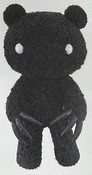 Chax Gloomy Bear Abstraction Edition Black Plush