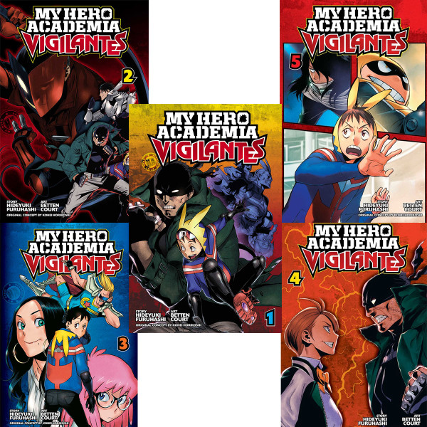 My Hero Academia Vigilantes Manga (1-5) Bundle