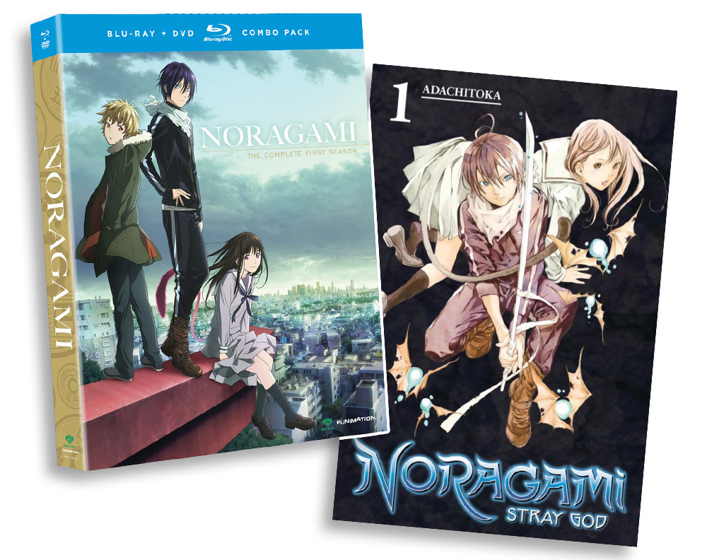 Noragami Season 1 Blu-ray/DVD + Vol 1 Manga Bundle NORAGAMIBUNDLE